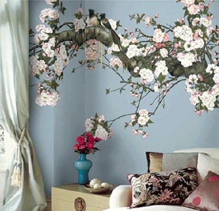 花建筑设计外观墙绘